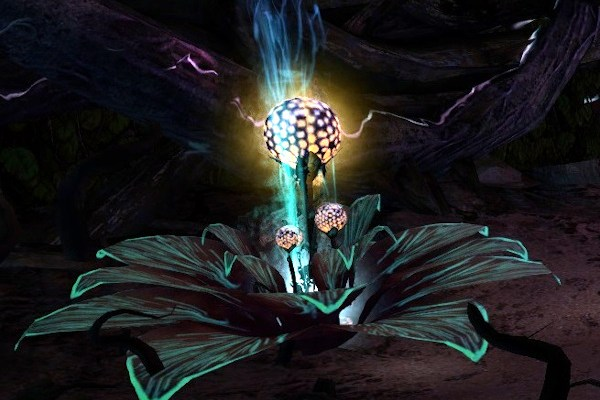 Large flower which grants the Cold Light immunity in Guild Wars 2 Tangled Labyrinth