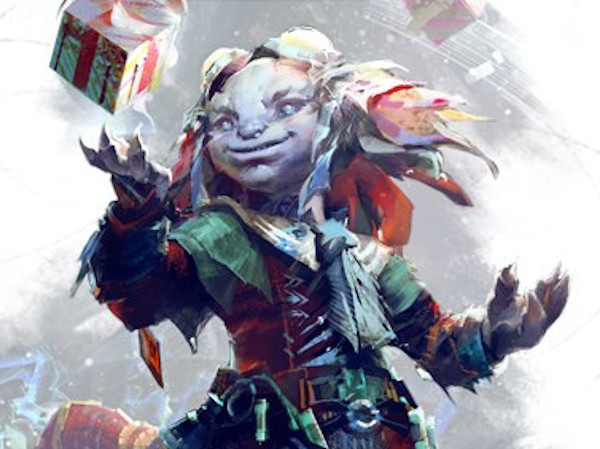 Toymaker Tixx on the GW2 Wintersday banner