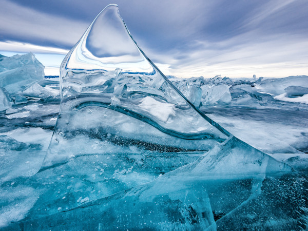 Photo of an ice shard