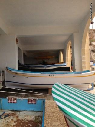 Boats docked near The Blue Grotto
