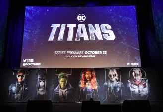 NEW YORK, NY - OCTOBER 03: A view of the main stage during DC UNIVERSE's Titans World Premiere on October 3, 2018 in New York City. (Photo by Dave Kotinsky/Getty Images for DC UNIVERSE)