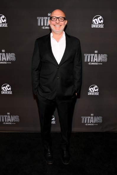 NEW YORK, NY - OCTOBER 03: Titan's Executive producer Akiva Goldsman attends DC UNIVERSE's Titans World Premiere on October 3, 2018 in New York City. (Photo by Dave Kotinsky/Getty Images for DC UNIVERSE)