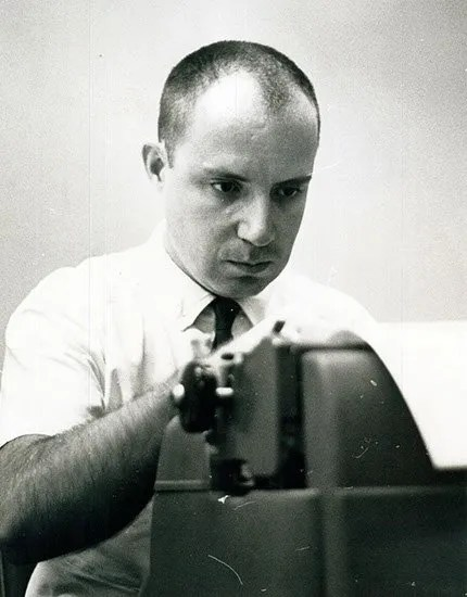 Kent Krell working for the AP, circa 1960s.