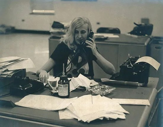 Williams at her desk in The News and Courier newsroom more than 40 years ago, doubtlessly interviewing yet another politician.