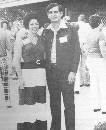 Dean Livingston with wife, Grace Dukes Livingston.