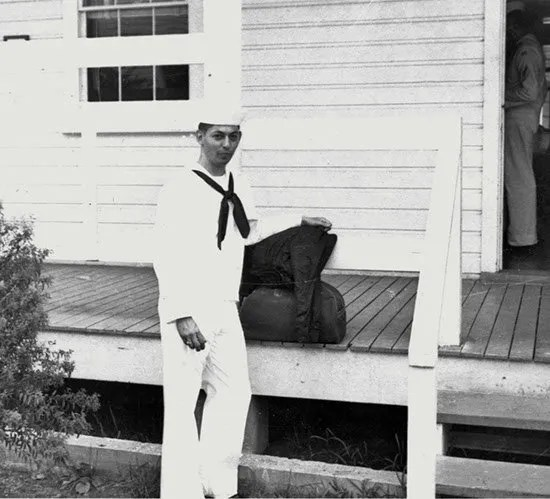 1956: Jack Bass in uniform while attending Officer Candidate School