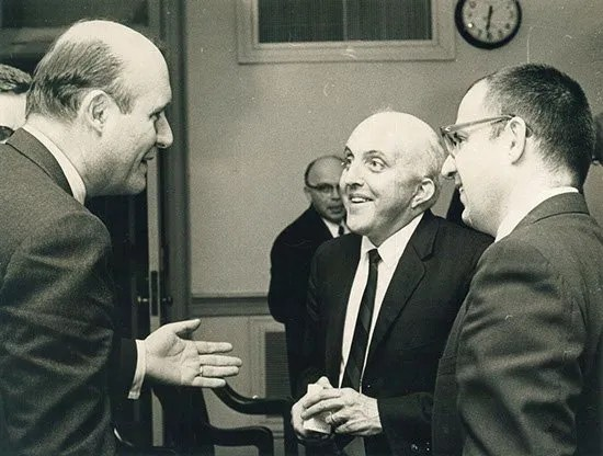From left, US Attorney General Nick Katzenbach, Bill Roan and Kent Krell. Circa the late 1960s.