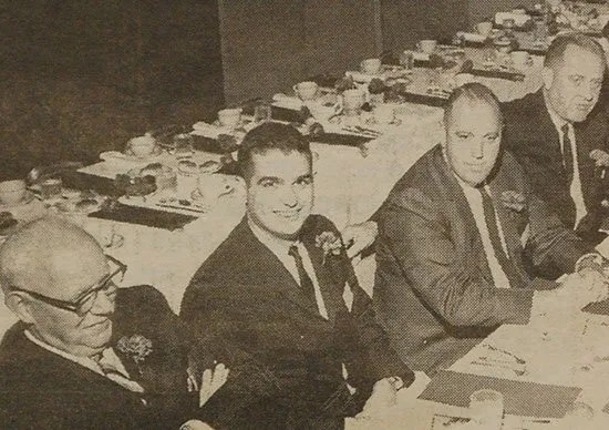 Dean Livingston meets with dignitaries in 1963. Photo provided by The Times and Democrat.
