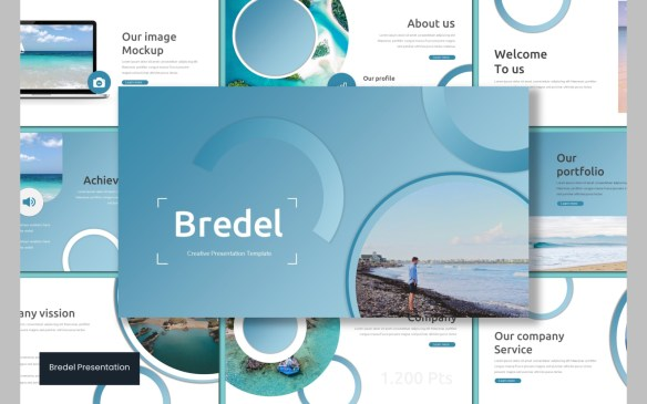 Blue Circle Theme PowerPoint Template