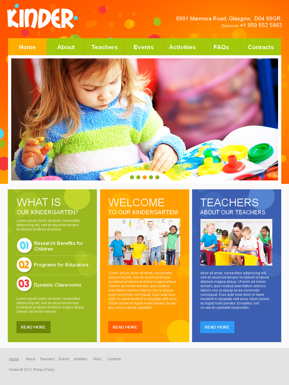 Template 42718 - Kindergarten & Preschool Moto CMS HTML Template