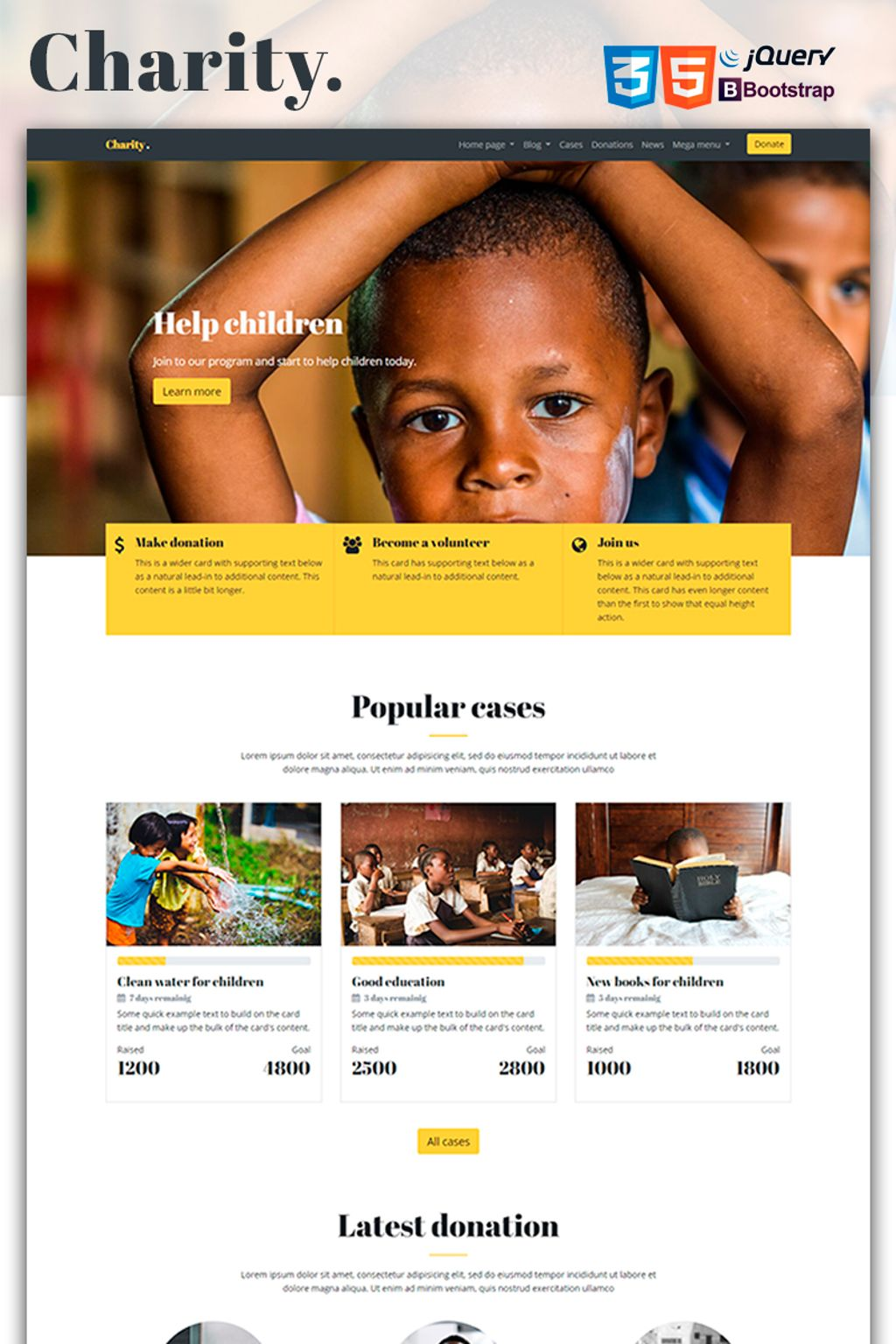 Feel free to explore different templates until you find one that you love. Mercury Charity Nonprofit Website Template