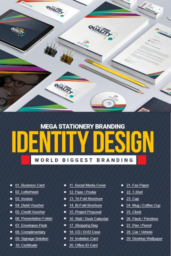 Stationery Mega Branding - Corporate Identity