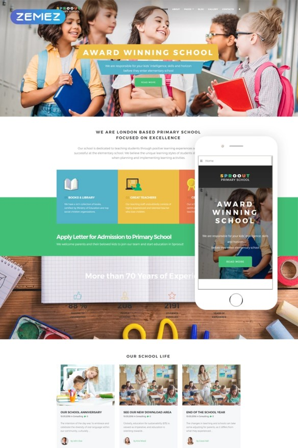 Sproout - Primary School Modern Joomla Template