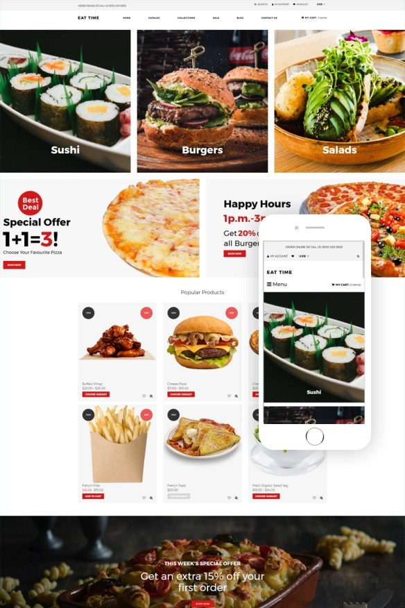 Eat time - Food Store Clean Shopify Theme