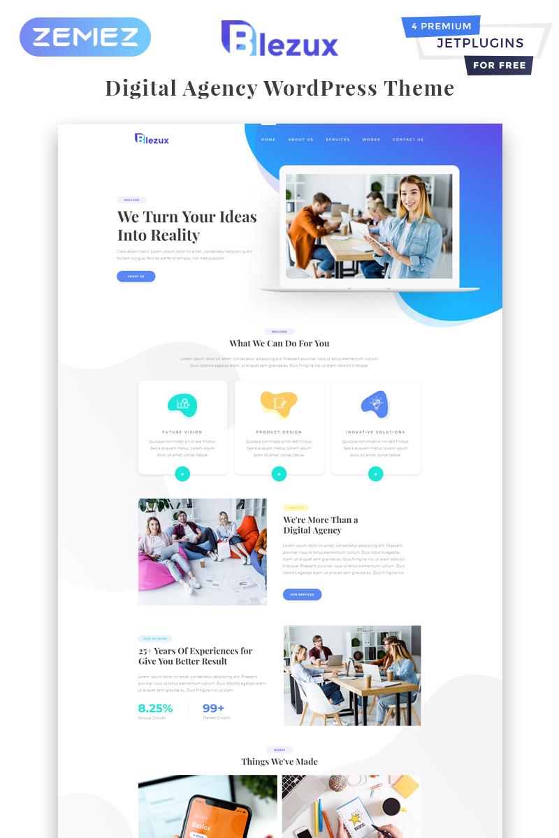 Blezux - Digital Multipurpose Modern Elementor WordPress Theme