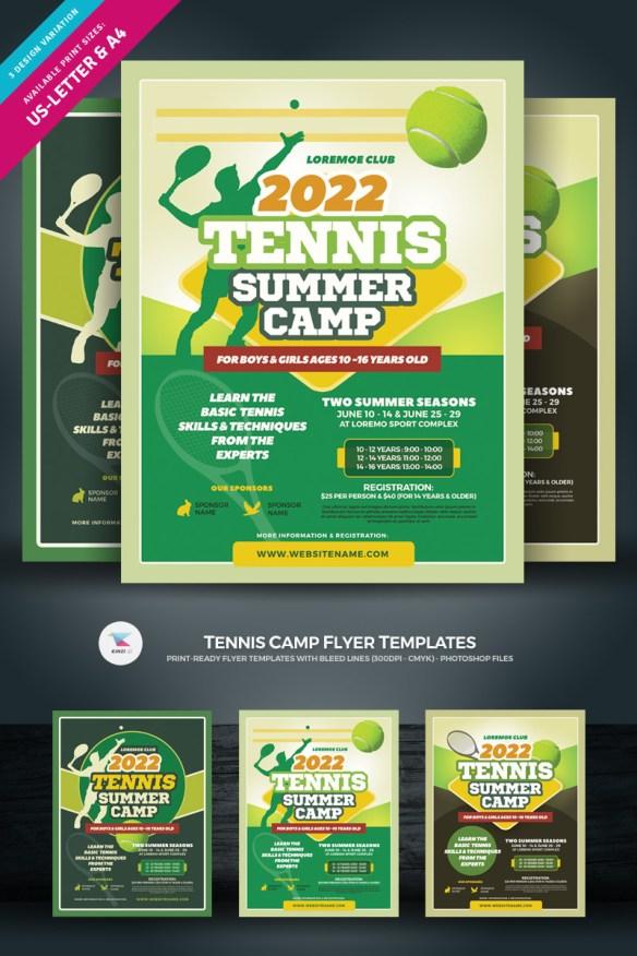 Tennis Camp Flyer Template