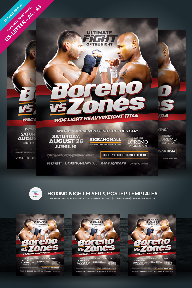Boxing Night Flyer & Poster Template