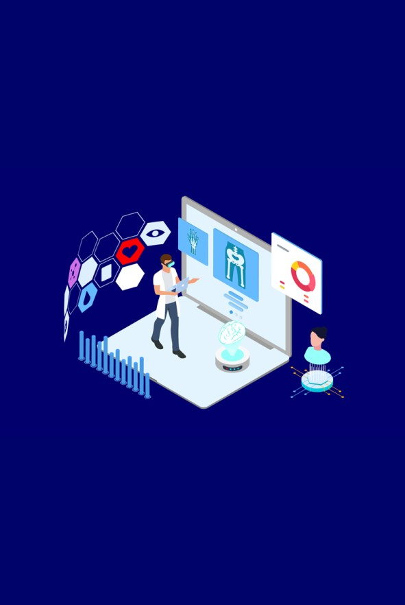 Medical Diagnosis Isometric Illustration