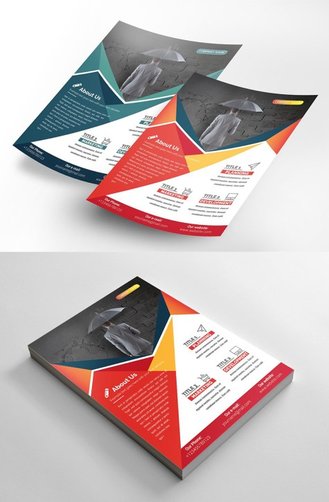 Geometric Flyer Design Template