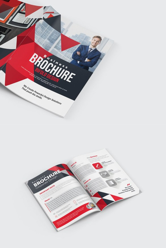 Triangles Modern Brochure Design Template