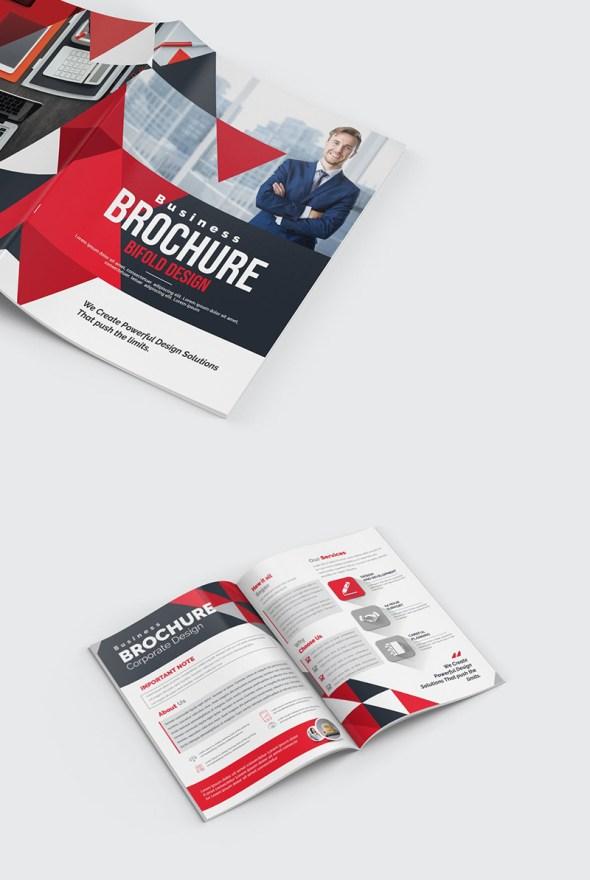 Triangles Modern Brochure Design Template