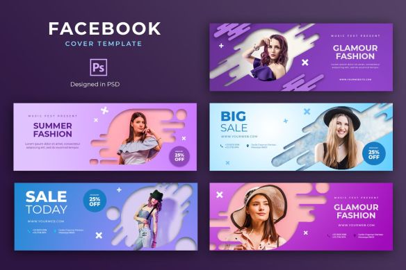 Glamour Fashion Sale Facebook Cover Template