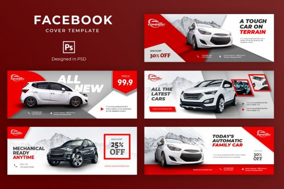 Modern Car Showroom Facebook Cover Template