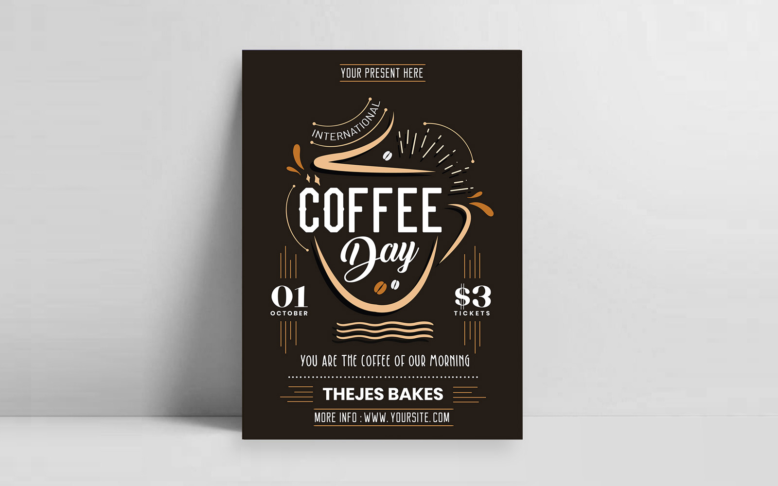 International Coffee Day Flyer Design
