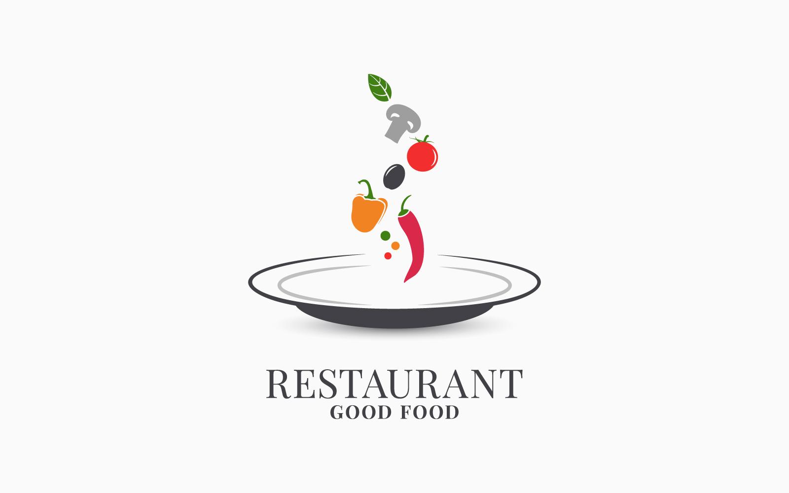Restaurant Plate Logo Template