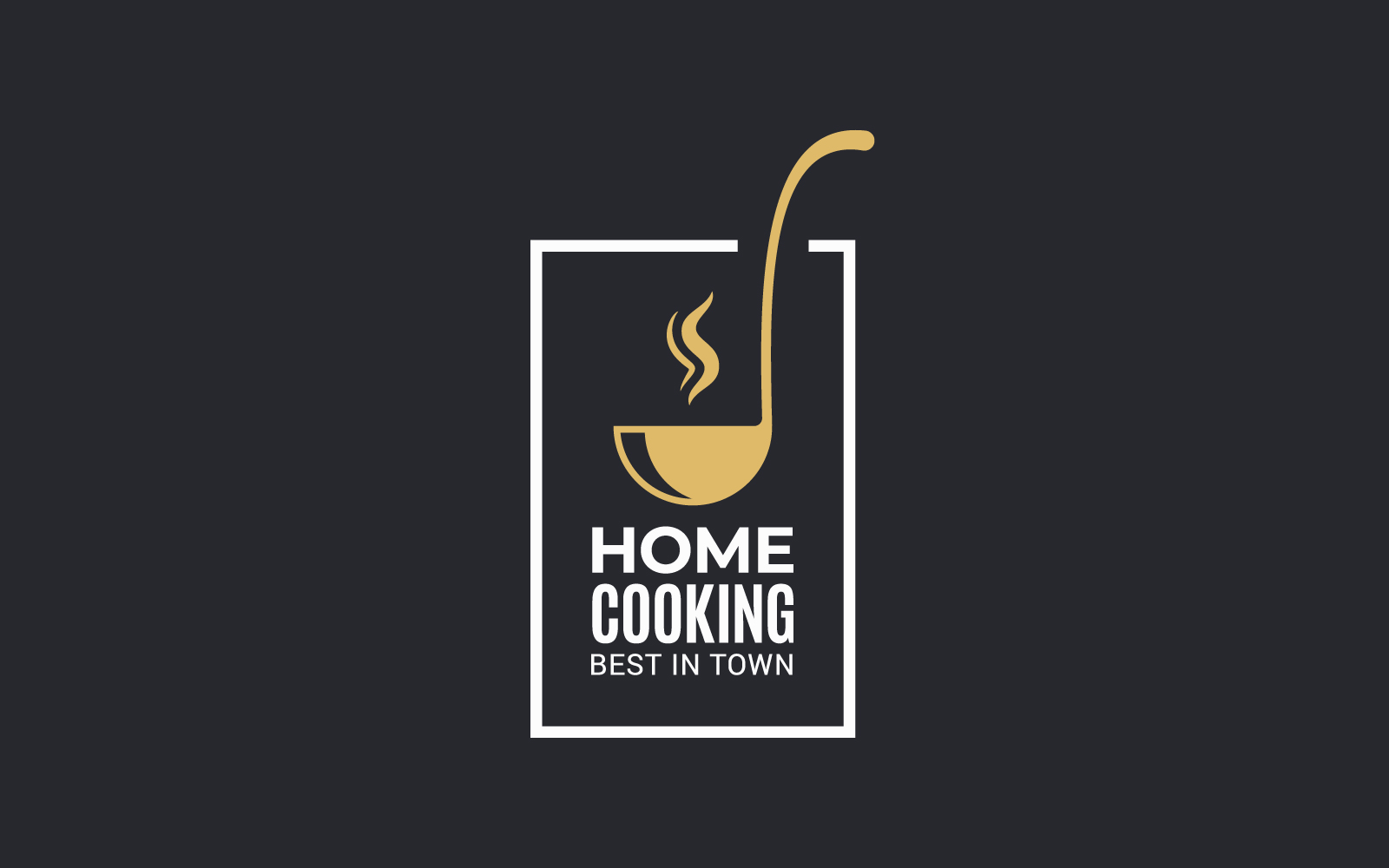 Home Cooking with Ladle Logo Template