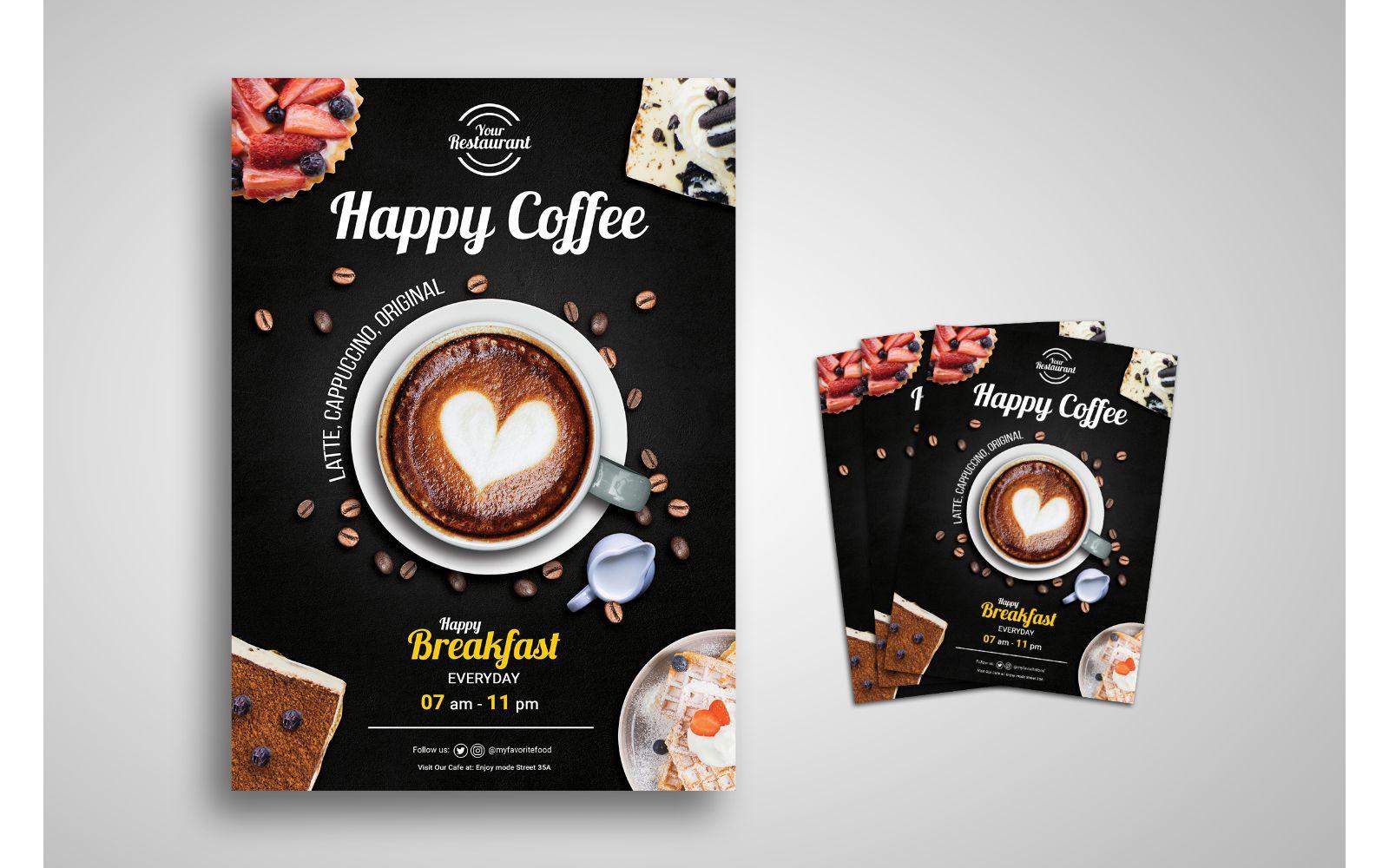 Coffee Flyer Template Design