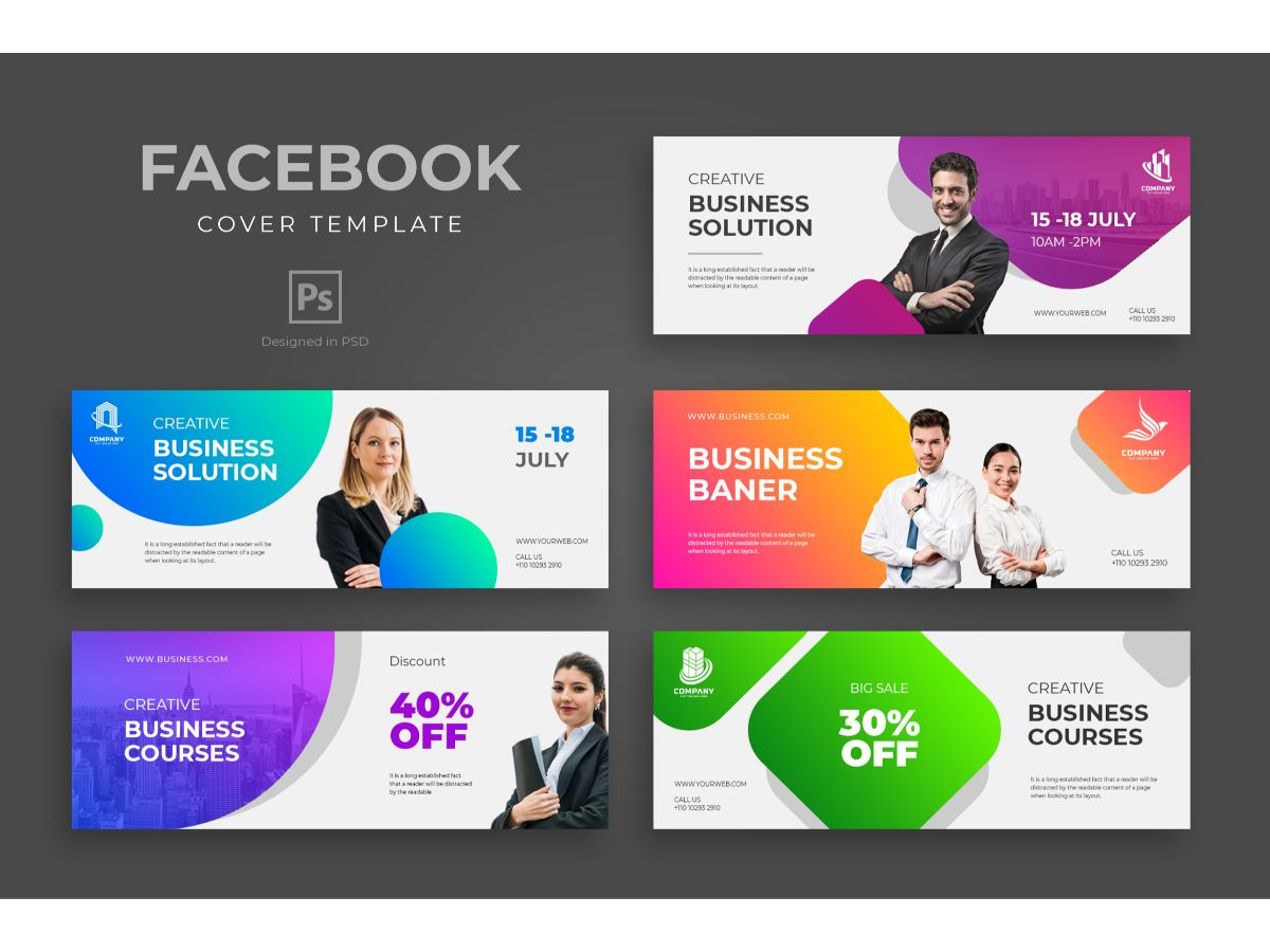 Modern and Trendy Facebook Template Business Template