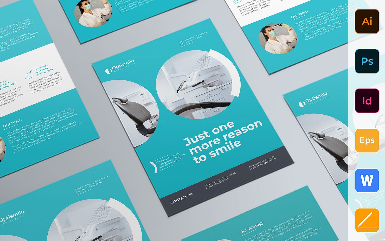 Professional Dental Clinic Flyer Template