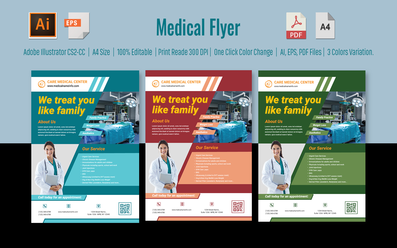 Medical Flyer-Health Care template