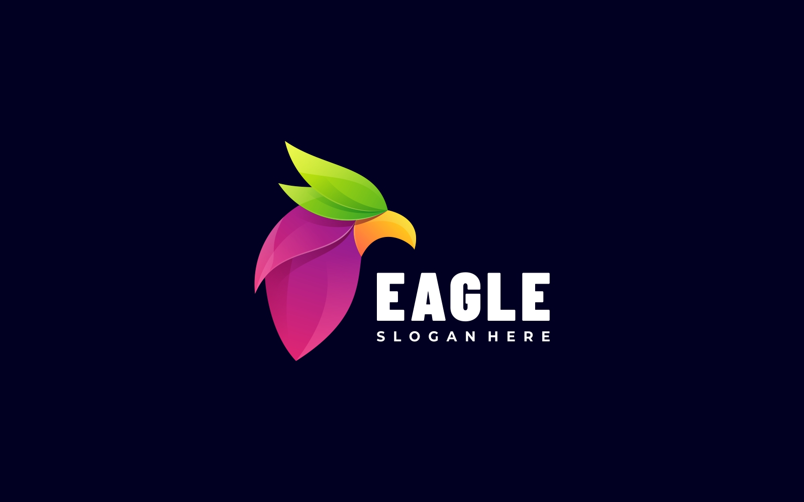 Eagle 3D Gradient Style Logo