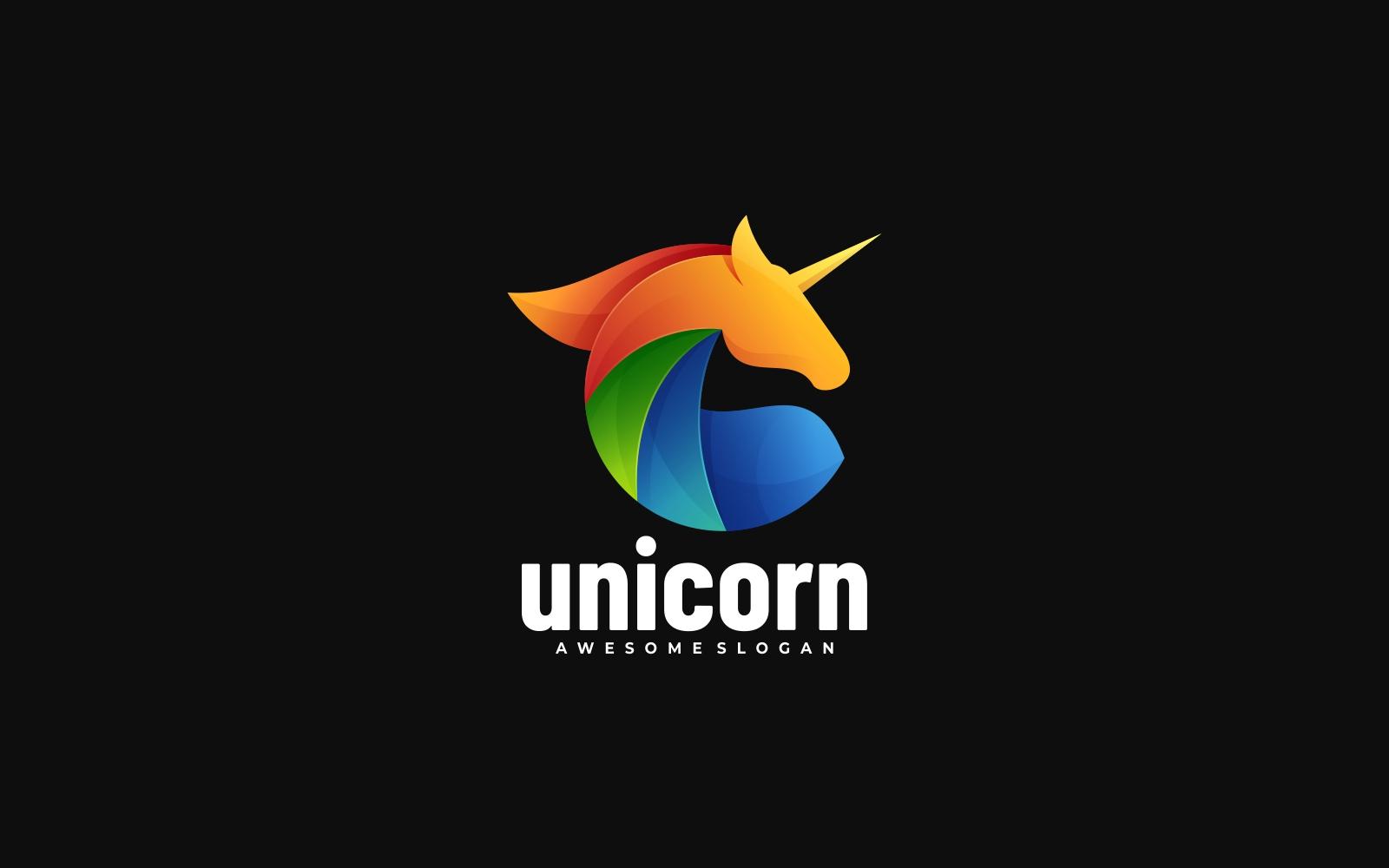 Unicorn Colorful Logo Style