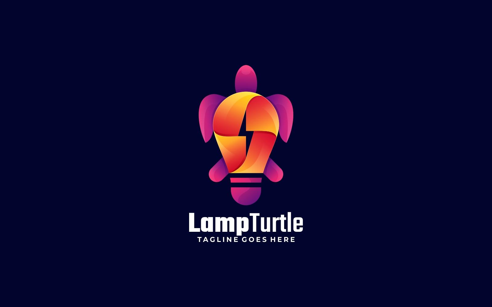 Lamp Turtle Gradient Logo