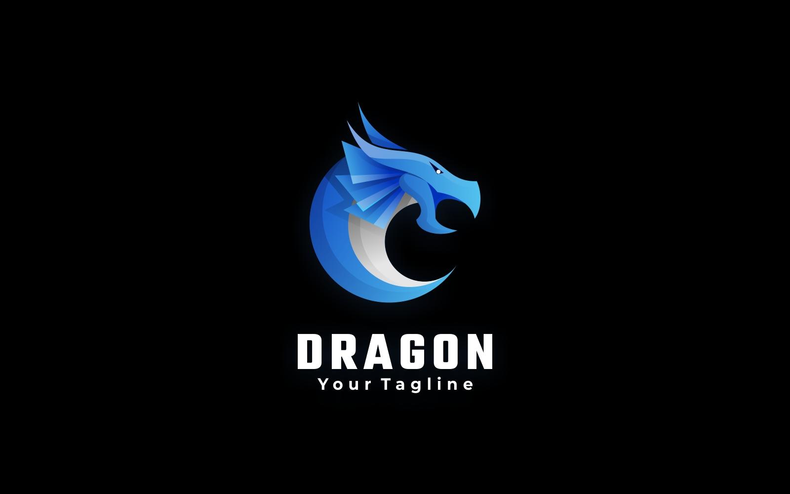 Blue Dragon Gradient Logo