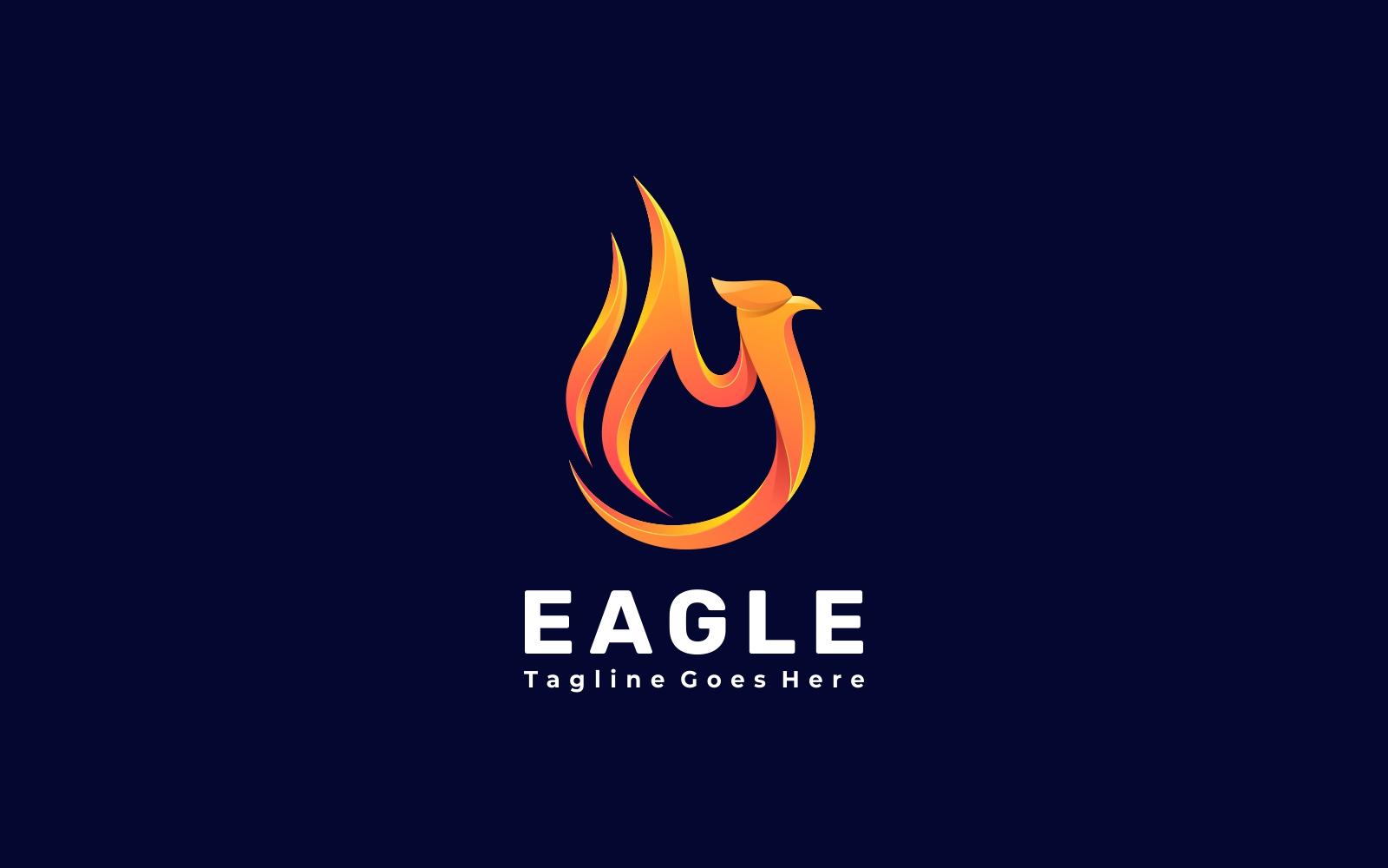 Fire Eagle Gradient Logo Template