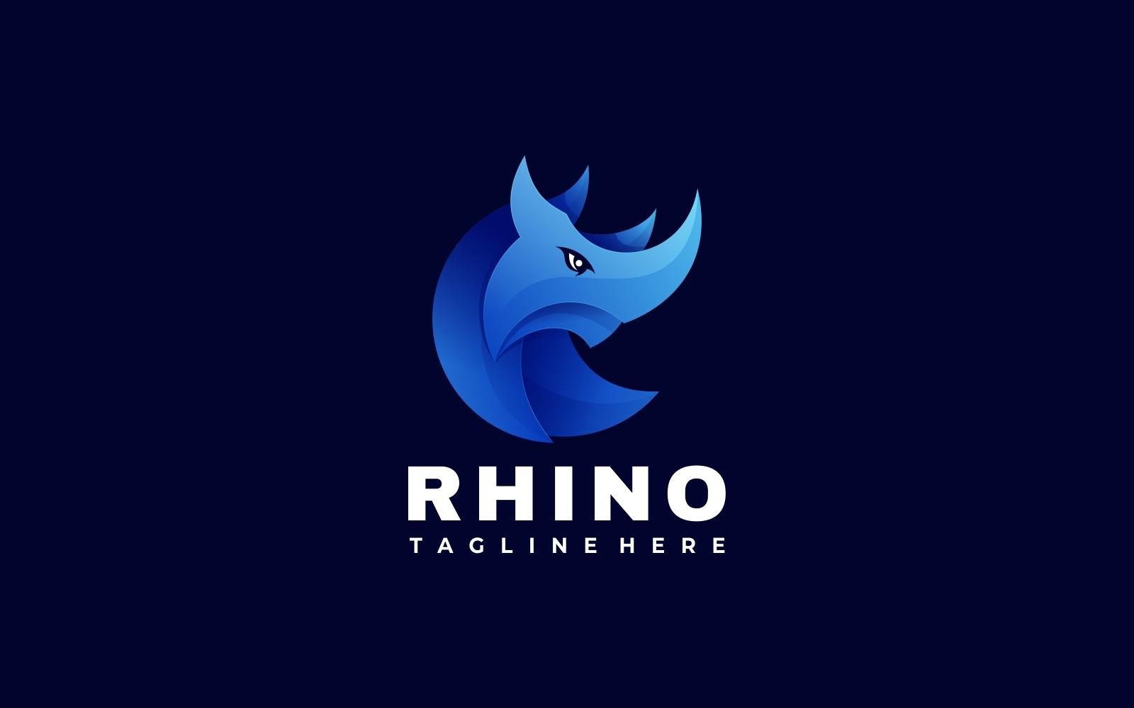 Blue Rhino 3D Gradient Logo Template