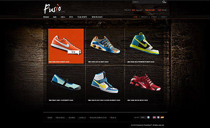 Prestashop Sports Shoes Theme