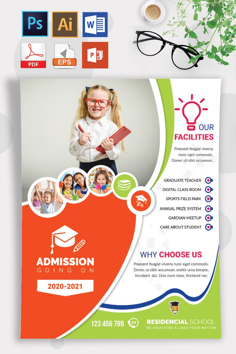 School Flyer Vol-06 - Fun Orange and Green Theme