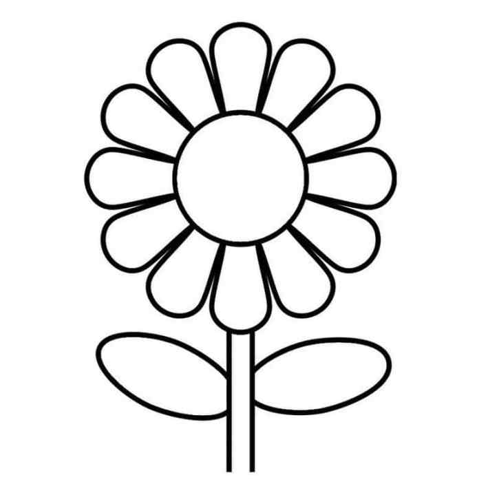 tranh tô màu cho bé 2t bông hoa
