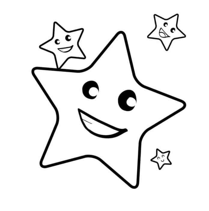 tranh tô màu cho bé 2 tuổi ngôi sao