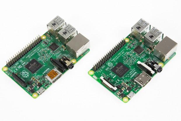 Raspberry Pi 2 (l.) und Pi 3 (r.)