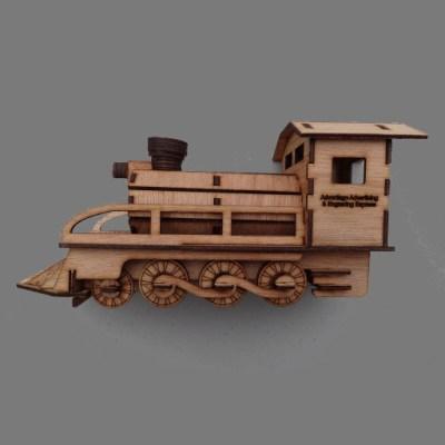Lasercut Train Puzzle