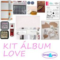 Kit medio de iniciación al Scrapbooking LOVE