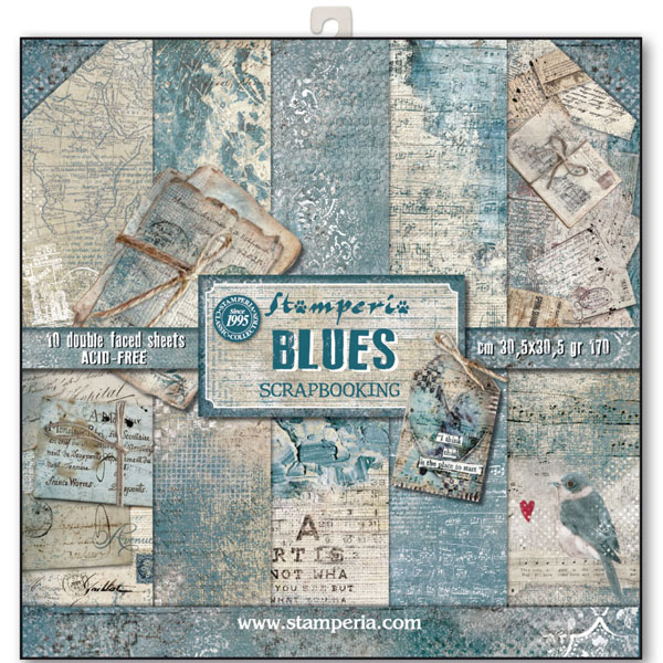 papel scrap stamperia blues, papel stamperia, scrapbooking stamperia, papel scrapbooking stamperia