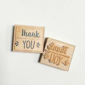 Sello scrapbooking Thank You