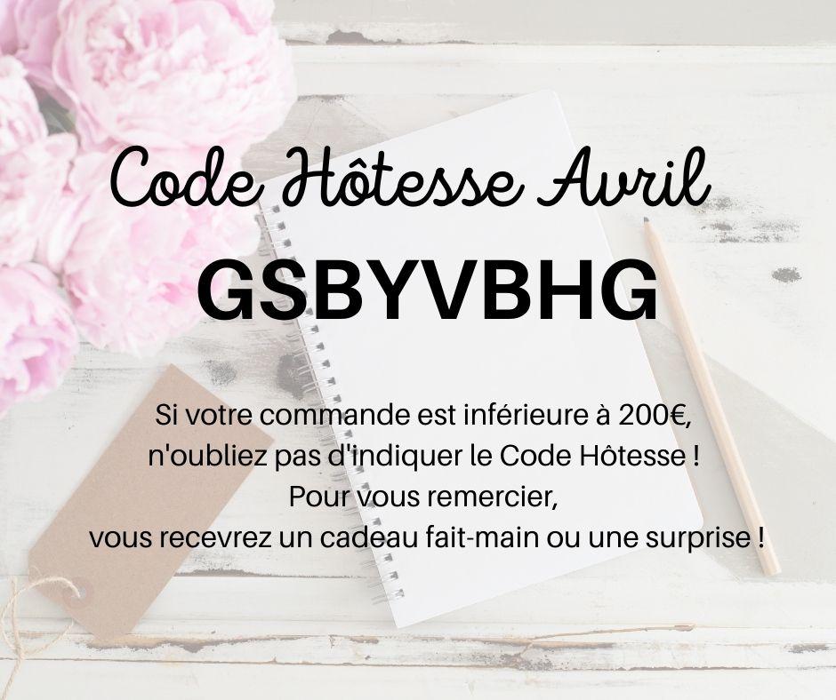 Code Hôtesse Avril